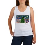 Xmas Magic & Silky Terrier Women's Tank Top