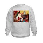 Santa's Sib Husky Kids Sweatshirt