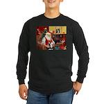Santa's Sib Husky Long Sleeve Dark T-Shirt