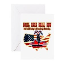 Drill here drill drill now Greeting Cards (Pk of 1