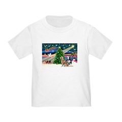 Xmas Magic & S Husky Toddler T-Shirt