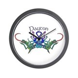 Payton's Celtic Dragons Name Wall Clock