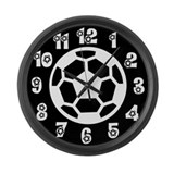 Black and White Soccer Balls Giant Wall Clock