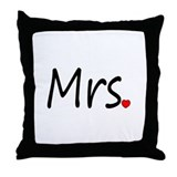 Mrs (Red Heart) Throw Pillow