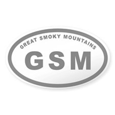 GSM-Great Smoky Mountians Oval Decal
