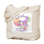 Leizhou China Map Tote Bag