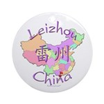 Leizhou China Map Ornament (Round)