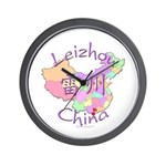 Leizhou China Map Wall Clock