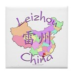 Leizhou China Map Tile Coaster