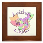 Leizhou China Map Framed Tile