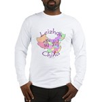 Leizhou China Map Long Sleeve T-Shirt