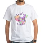 Leizhou China Map White T-Shirt
