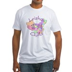 Leizhou China Map Fitted T-Shirt