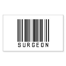 Surgeon Barcode Rectangle Decal