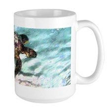 Swimming Sea Turtle Large Mug