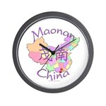 Maonan China Map Wall Clock
