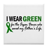 I Wear Green 2 (Father's Life) Tile Coaster