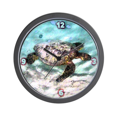 Swimming Sea Turtle Wall Clock