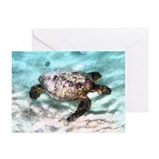 Swimming Sea Turtle Greeting Cards (Pk of 20)