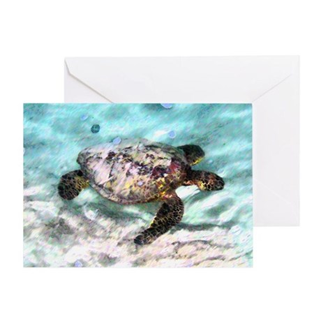 Swimming Sea Turtle Greeting Card