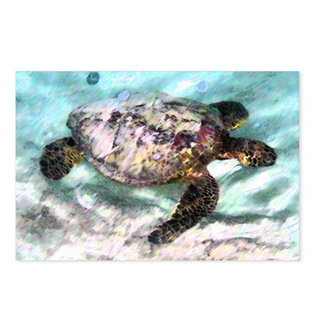 Swimming Sea Turtle Postcards (Package of 8)