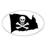 Ed England Jolly Roger Oval Decal