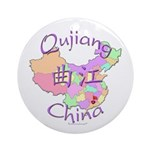 Qujiang China Map Ornament (Round)