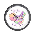 Qujiang China Map Wall Clock