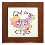 Qujiang China Map Framed Tile