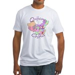 Qujiang China Map Fitted T-Shirt