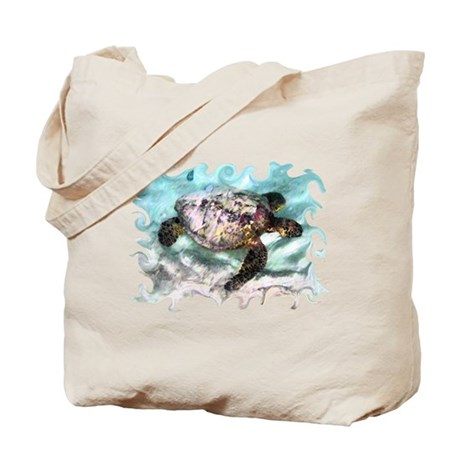 Swimming Sea Turtle Tote Bag