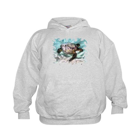 Swimming Sea Turtle Kids Hoodie