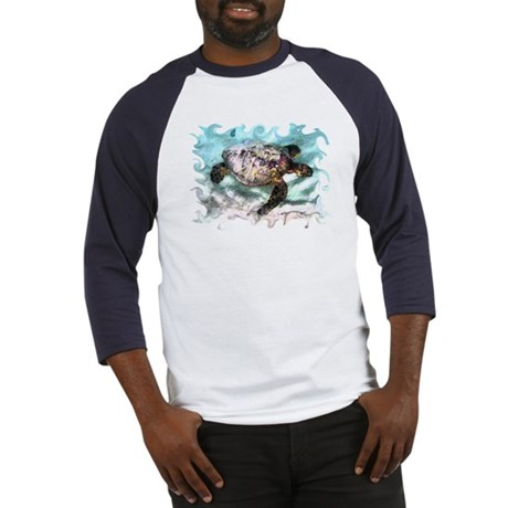 Swimming Sea Turtle Baseball Jersey