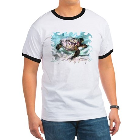 Swimming Sea Turtle Ringer T