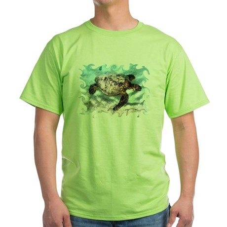 Swimming Sea Turtle Green T-Shirt