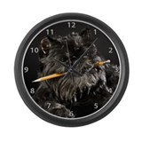 Brussels Griffon Cookie Large Wall Clock