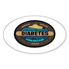 Diabetes Survivor Oval Decal