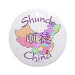 Shunde China Map Ornament (Round)
