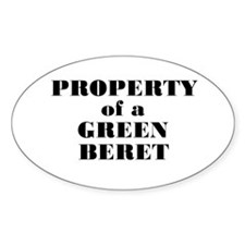 Property of a Green Beret Oval Decal