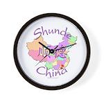 Shunde China Map Wall Clock