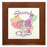 Shunde China Map Framed Tile
