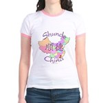 Shunde China Map Jr. Ringer T-Shirt