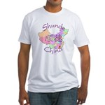Shunde China Map Fitted T-Shirt