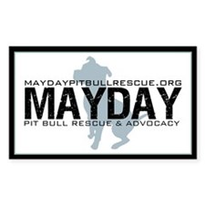 Mayday Pit Bull Rescue & Advo Decal