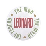 Leonard Man Myth Legend 3.5&quot; Button