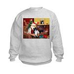 Santa's Bi Black Sheltie Kids Sweatshirt
