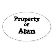 Property of Al Oval Decal