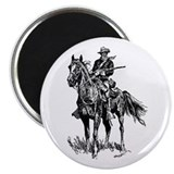 Old Bill Cavalry Mascot 2.25&quot; Magnet (10 pack)