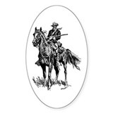 Old Bill Cavalry Mascot Oval Decal