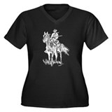 Old Bill Cavalry Mascot Women's Plus Size V-Neck D